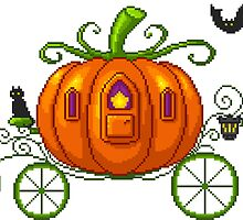 Pixel Pumpkin Carriage by maicakes
