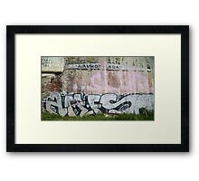 The Writing's on the Wall Framed Print