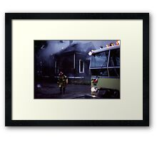 Fire in Detroit 1978 Framed Print