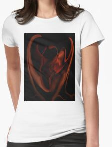 Fire Side 1f Womens Fitted T-Shirt