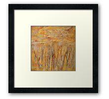 Layers of Weeds Framed Print
