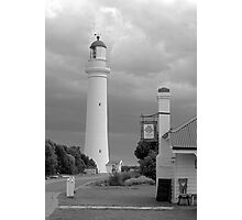 Split Point Lighthouse, Aireys Inlet, grayscale version Photographic Print