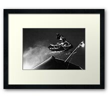 Crazy Snowmobile Framed Print