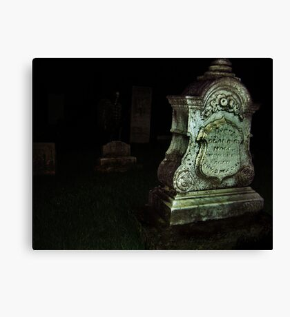 Ghost in the Cemetery Canvas Print