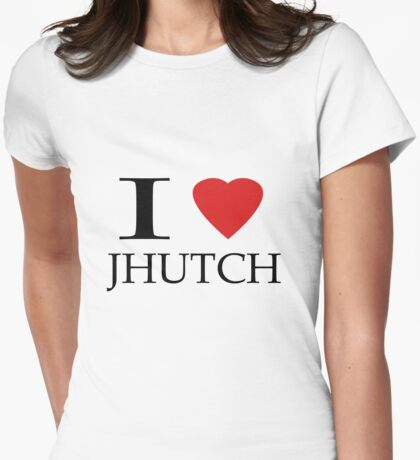 I (heart) Jhutch Womens Fitted T-Shirt