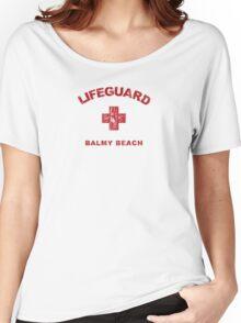 Balmy Beach Life Guard Shirt Women's Relaxed Fit T-Shirt