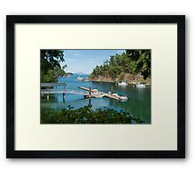 Tod Inlet, Vancouver Island Framed Print