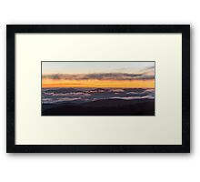 After Glow Sunset - Great Smoky Mountains National Park, Tennessee Framed Print