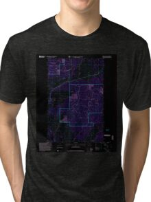 USGS Topo Map Washington State WA Mount Annie 242471 2001 24000 Inverted Tri-blend T-Shirt