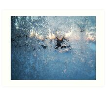 Cold Winter Frosted Glass Ice Crystals Art Print