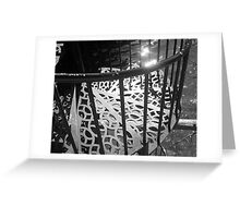 Beautiful Weathered Staircase, 2012 Greeting Card