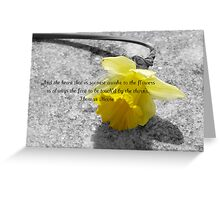 The flower fades that is not looked upon - greeting card Greeting Card