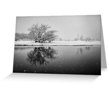 SnowAlone Greeting Card