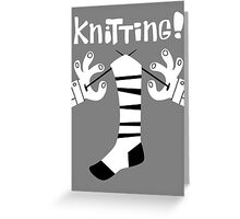 Knitting!  Greeting Card