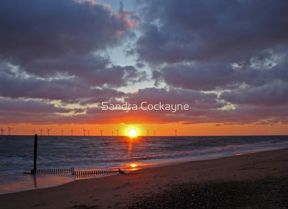 Caister Beach Sunrise by Sandra Cockayne