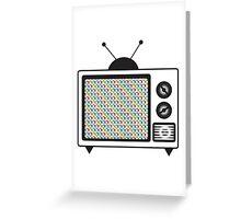 Retro Tv Greeting Card