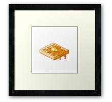 Pixel Waffle Framed Print