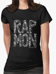 Rap Monster - BTS Member Logo Series (White) Womens Fitted T-Shirt