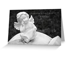 And he rode upon a cherub, and did fly: and he was seen upon the wings of the wind. Greeting Card