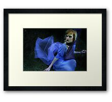 fighting fear with fear Framed Print