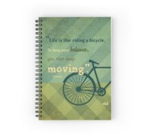 VINT BICYCLE QUOTE Spiral Notebook
