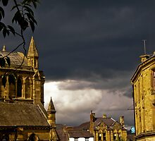 Storm brewing over Hexham Abbey by tunna
