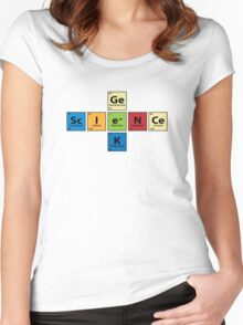 Science Geek  |  Periodic Table Women's Fitted Scoop T-Shirt