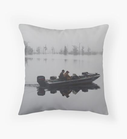 Off to the Bass Bed Throw Pillow