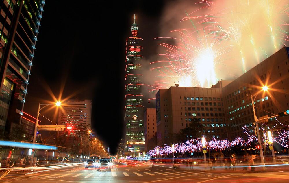 Taipei Fireworks by Cameron B