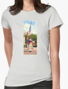 American Fife and Drum Corp. Flag Carrier Womens Fitted T-Shirt