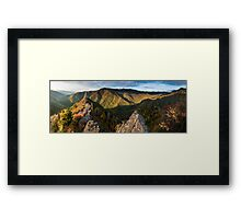 Chimney Tops Panorama – Great Smoky Mountains National Park, Tennessee Framed Print
