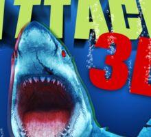 Zombie Shark Attack Sticker