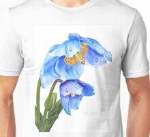 Twin Blue Poppies Unisex T-Shirt