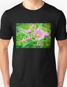 Wildflowers in Pink and Yellow Unisex T-Shirt