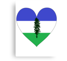 From Cascadia With Love Canvas Print