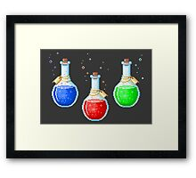 Pixel Potions Framed Print