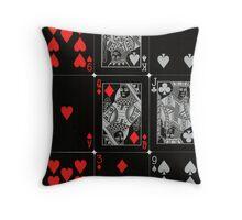 Poker Card (Black) Throw Pillow