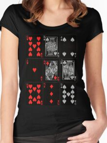 Poker Card (Black) Women's Fitted Scoop T-Shirt