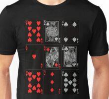 Poker Card (Black) Unisex T-Shirt