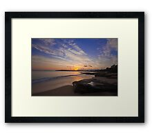 Jibbon Beach Sunrise 2011 Framed Print