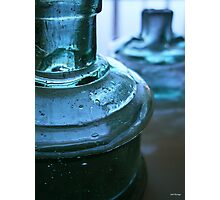 Two Blue Bottles Photographic Print