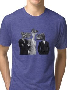 The Saurus Society - No Extinction Theory Conversation Tri-blend T-Shirt
