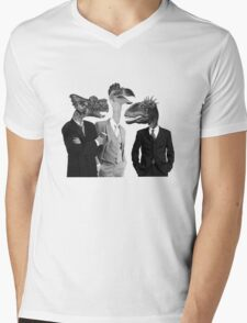 The Saurus Society - No Extinction Theory Conversation Mens V-Neck T-Shirt