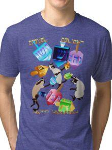 Delightful Dreidels-lettered Tri-blend T-Shirt