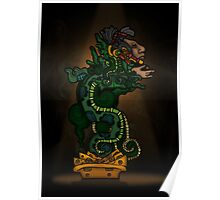 Mayan Serpent God Poster