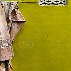 Cloth on a line - Mysore by Marjolein Katsma