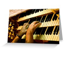 0354 Organist Greeting Card