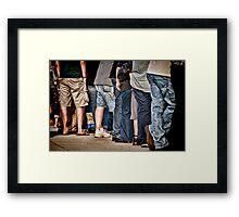 Crowded Framed Print