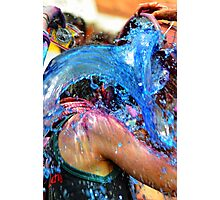 A Bucket of Blue Photographic Print