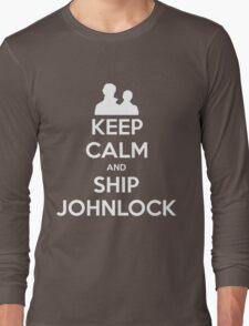 Keep Calm and Ship Johnlock - Tee Long Sleeve T-Shirt